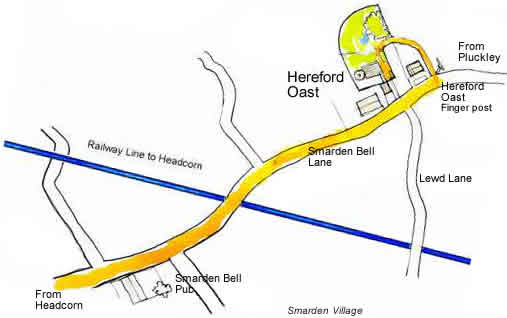 Map Hereford Oast